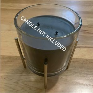 Bath & Body Works Accents - Bath and Body Works 3 wick silver candle holder